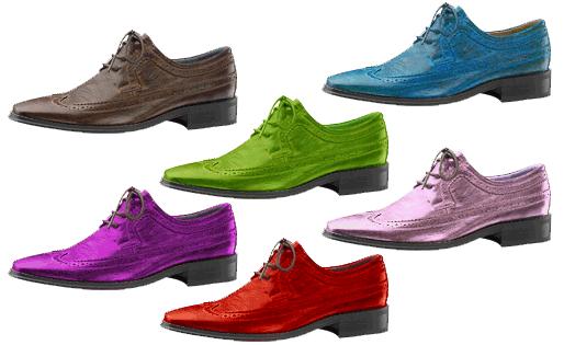 Herreskor i ulike fargar