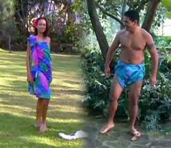 Mann og kvinne i sarong
